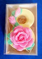 Мыло Восьмёрка с розой., фото 1