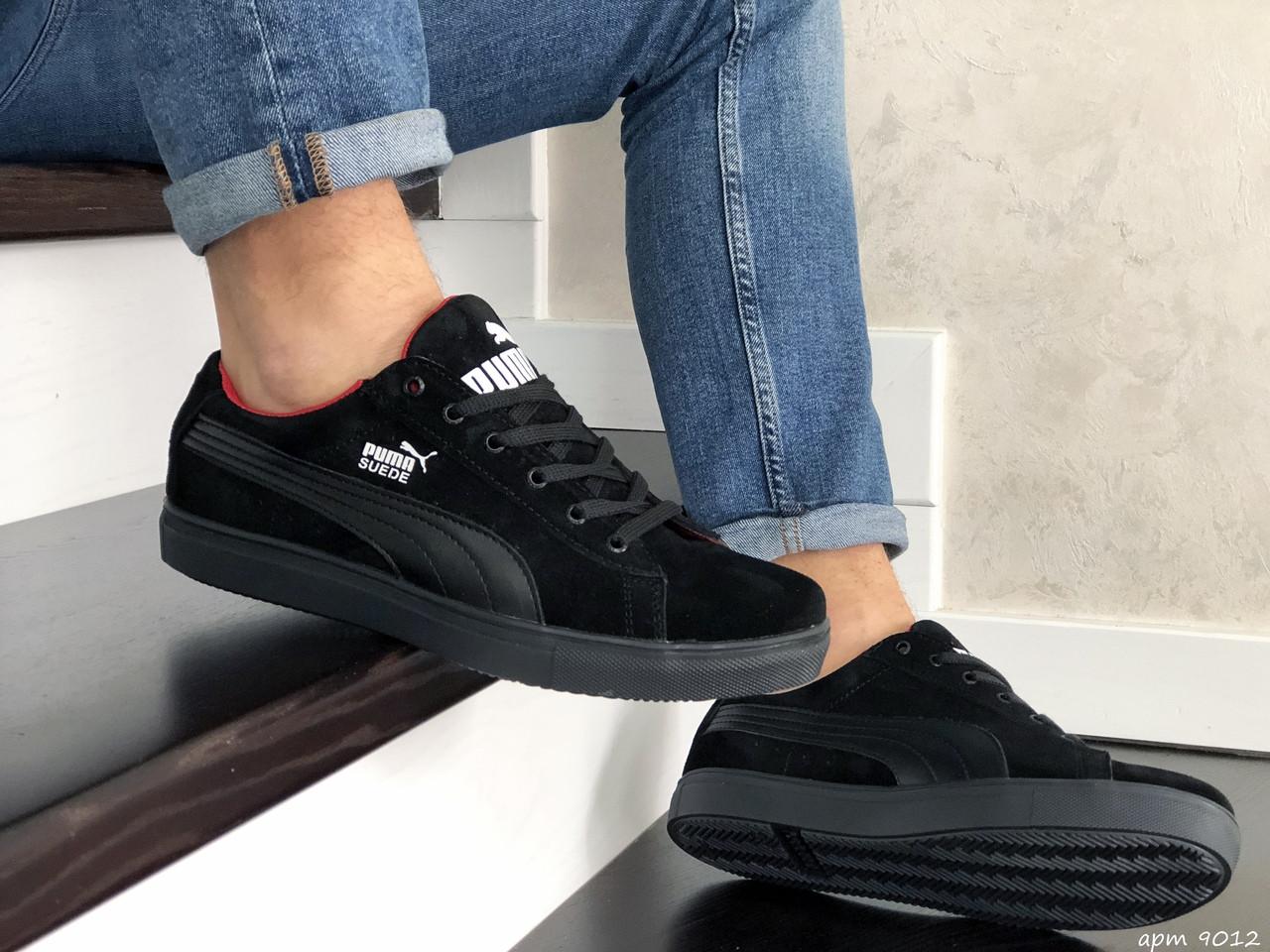 Мужские кроссовки Puma Suede (черные) 9012