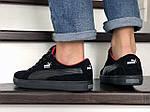 Мужские кроссовки Puma Suede (черные) 9012, фото 3