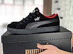 Мужские кроссовки Puma Suede (черные) 9012, фото 4
