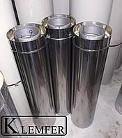 Труба нержавеющая 1.0мм AISI321 в кожухе из нержавеющей стали Ф220\Ф290