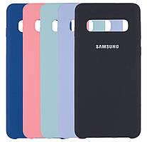 Чехол-накладка Original Silicone case на Samsung Galaxy S10 SM-G973F