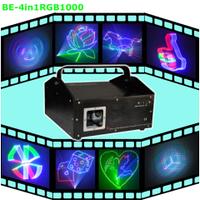 Лазер BIG  BE4in1RGB1000 (4 в 1 + ILDA (компьютерное создание анимации) ) DMX