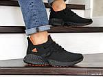 Чоловічі кросівки Adidas (чорно-помаранчеві) 9016, фото 3