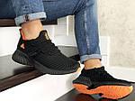 Мужские кроссовки Adidas (черно-оранжевые) 9016, фото 2