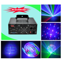 Лазер BIG BE5in1RGB1000 ( 3D, 2D анимация и графика, анимационный феерверк, 3Dспиральная проекция ) DMX