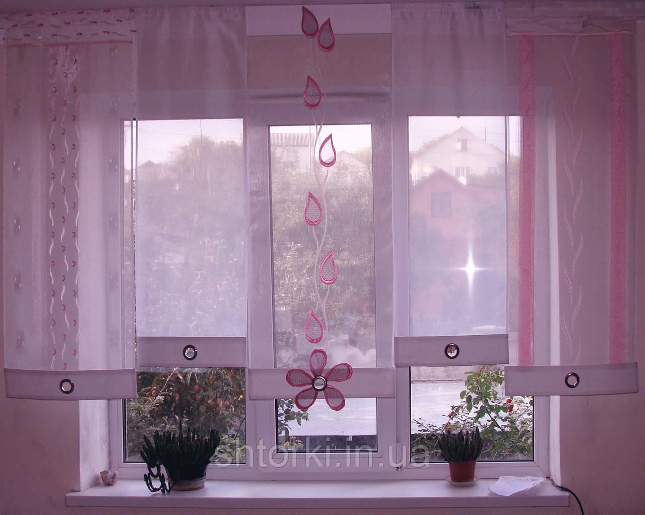 Японские панельки Веточка розовая