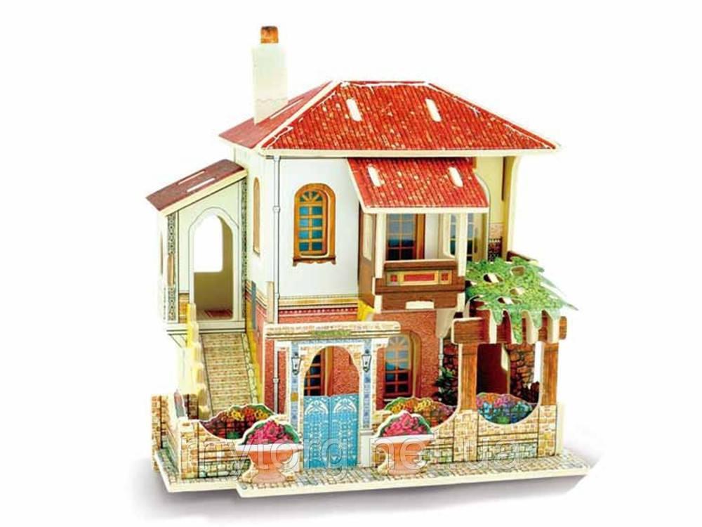 Кукольный домик 3D пазл Diy деревянный Вилла