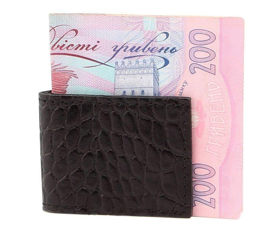 Компактный Кожаный Зажим Для Денег Shvigel 00357 Черный, Черный