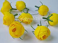Троянди головка 3 см  жовта