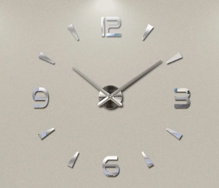 """Часы настенные 3D """"DIY"""" от 60 до 120 см цвет серебро (8516-022 209S)"""