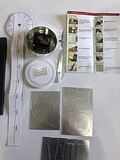 """Часы настенные 3D """"DIY"""" от 60 до 120 см цвет серебро (8516-022 209S), фото 3"""