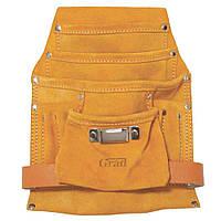 Карман поясной слесарный кожаный 10 отделений Grad (9450715)