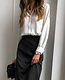 Рубашка женская делового стиля , белая, чёрная, фото 4
