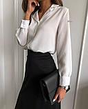 Рубашка женская делового стиля , белая, чёрная, фото 5