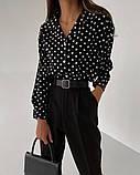 Рубашка женская делового стиля , белая, чёрная, фото 7
