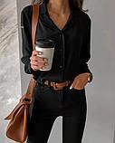 Рубашка женская делового стиля , белая, чёрная, фото 8