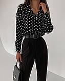 Рубашка женская делового стиля , белая, чёрная, фото 9