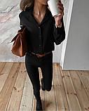 Рубашка женская делового стиля , белая, чёрная, фото 10
