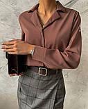 Рубашка женская делового стиля , белая, чёрная, фото 2