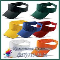 Козырьки, кепки, бейсболки однотонные с возможностью нанесения логотипа (отшив от 100 шт.), фото 1