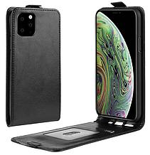 Кожаный чехол флип для iPhone 11 Pro Max (6.5'') черный