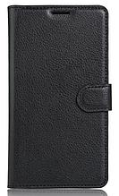 Кожаный чехол-книжка для Oneplus 3 / 3T черный