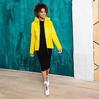 Стильная желтая куртка, фото 1