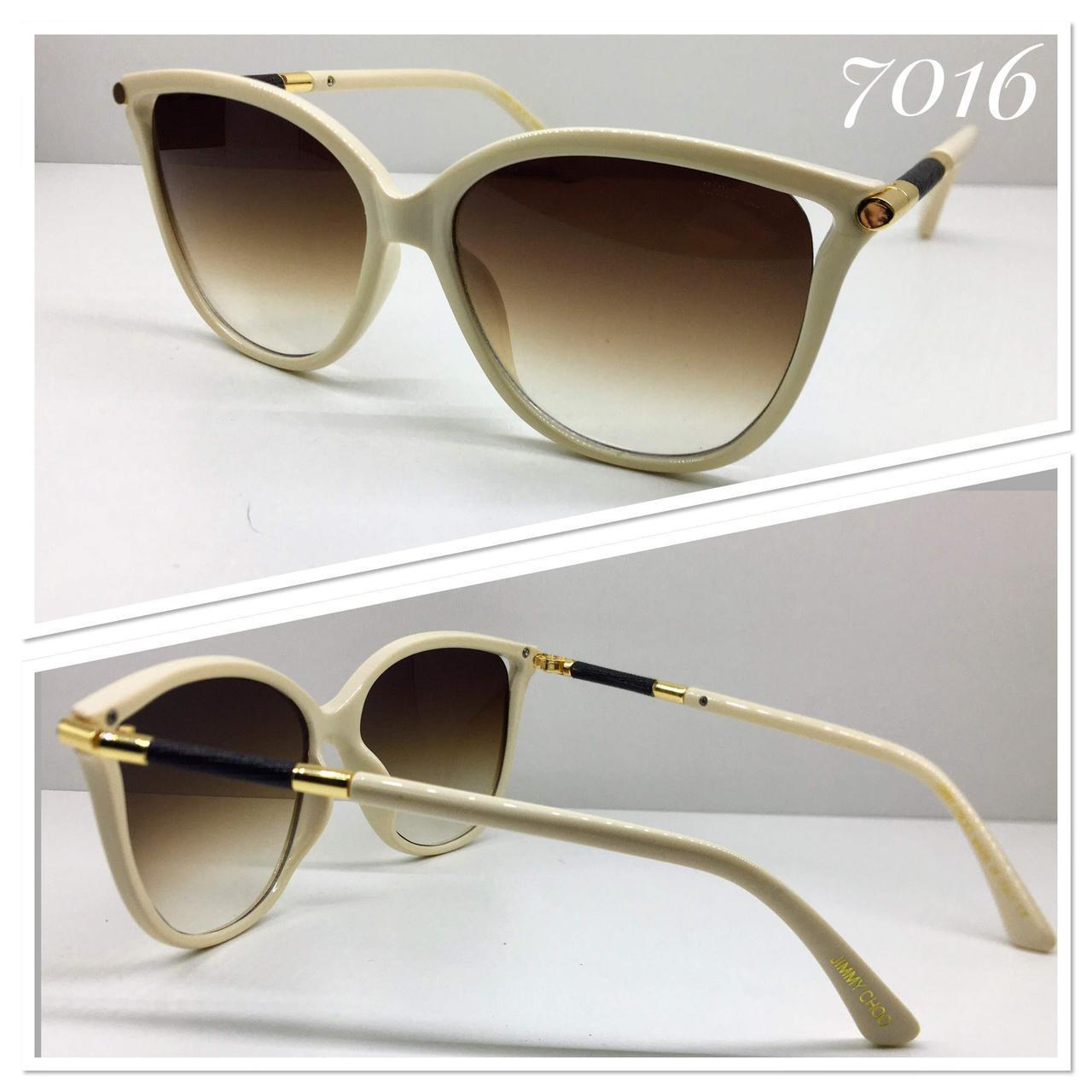 Женские очки  Jimmy Choo коричневые линзы градиент бежевая оправа