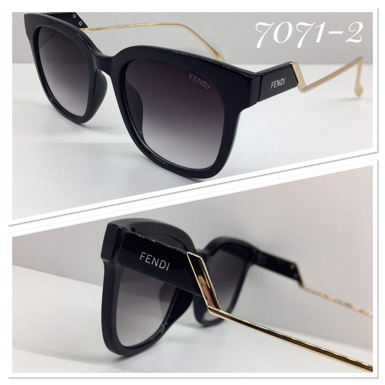 Женские солнцезащитные очки черные изогнутые металлические дужки