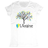 """Женская футболка с принтом """"Я люблю Україну"""""""