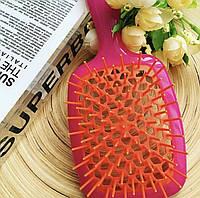 Расческа для волос Janeke 1830 Superbrush The Original Italian Розовый фуксия с красным