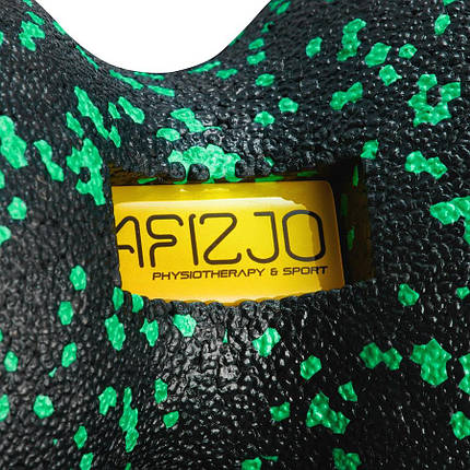 Масажний м'яч подвійний 4FIZJO EPP DuoBall 12 4FJ1325 Black/Green, фото 2
