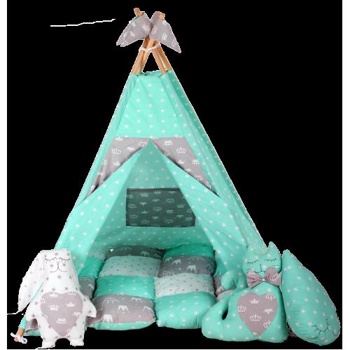 Вигвам Хатка комплект Королевский с мягким ковриком