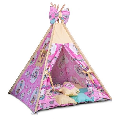 Вигвам Хатка комплект Куклы Лол - Lol с подушками