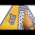 Вигвам Хатка комплект желто-черный Кошка с подушкой, фото 2