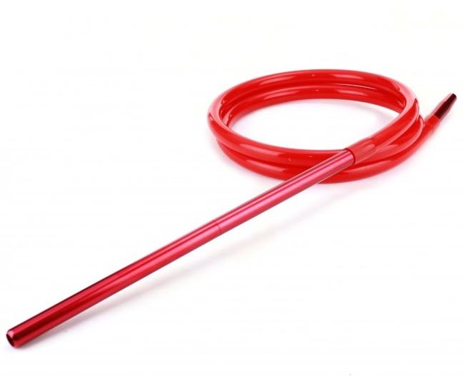 Шланг Amy DeLuxe силиконовый с алюминиевым мундштуком, красный