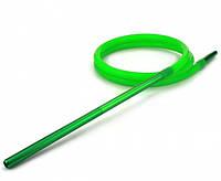 Шланг Amy DeLuxe силиконовый с алюминиевым мундштуком, зеленый, фото 1
