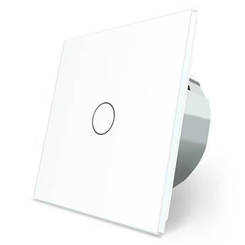 Сенсорный выключатель Livolo белый стекло (VL-C701-11)