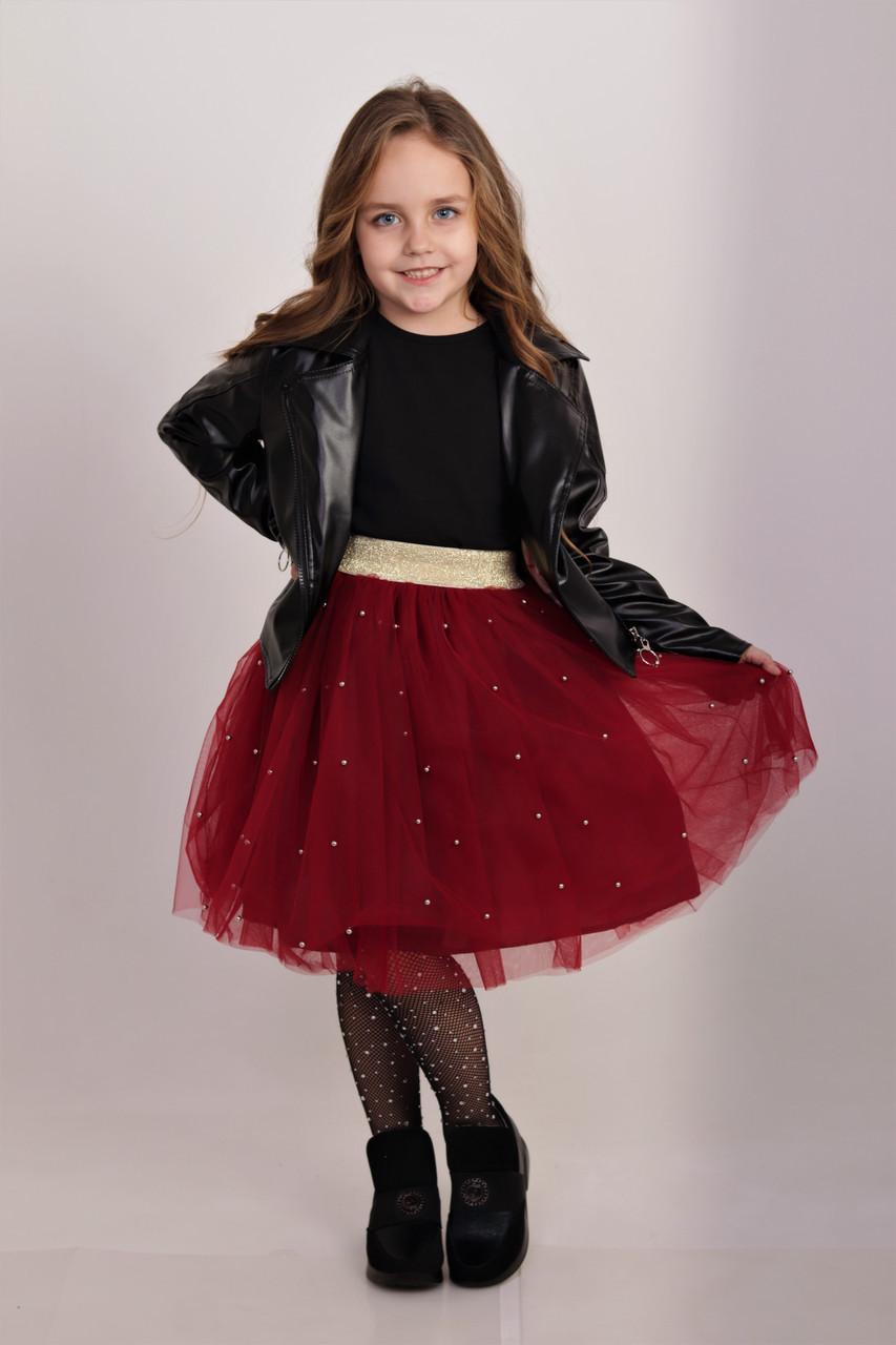 Красная   юбка ту-ту   для девочки Жемчужинки