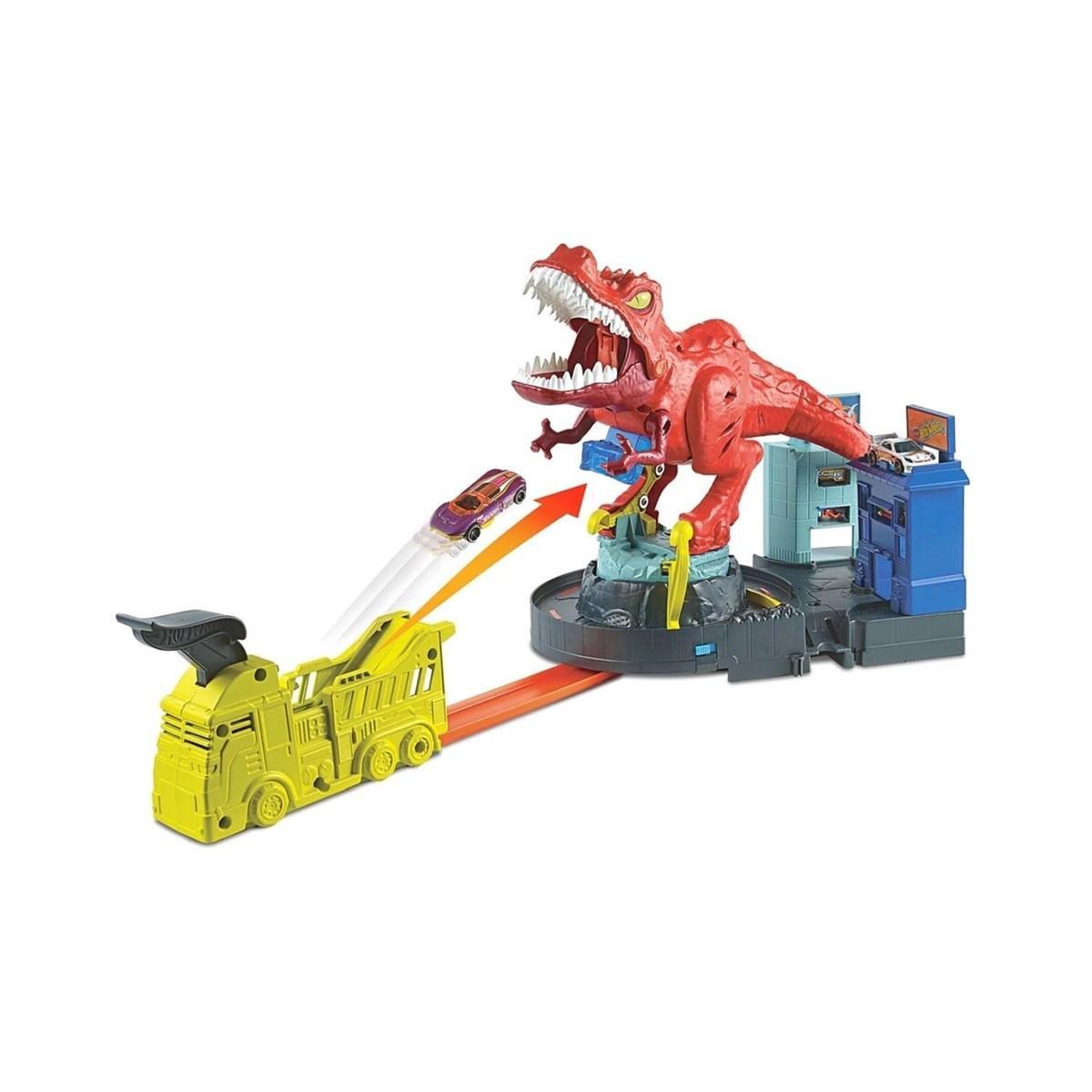 Hot Wheels Трек  Динозавр Ти-Рекс GFH88 Car track City T-Rex Rampage