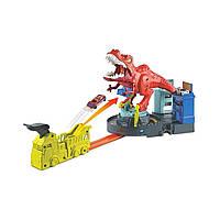 Hot Wheels Трек Лютий динозавр Ти-Рекс GFH88 Car track City T-Rex Rampage