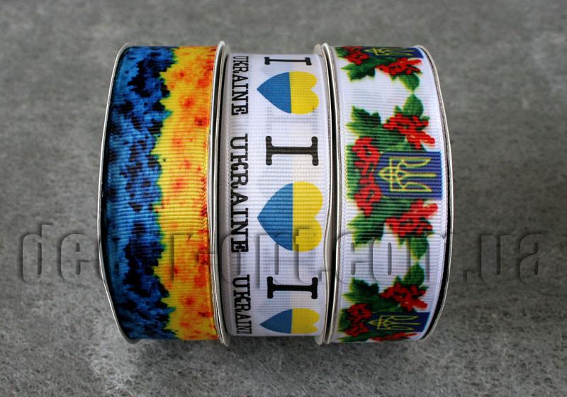 Лента репсовая Украина 2,5см/25 ярд