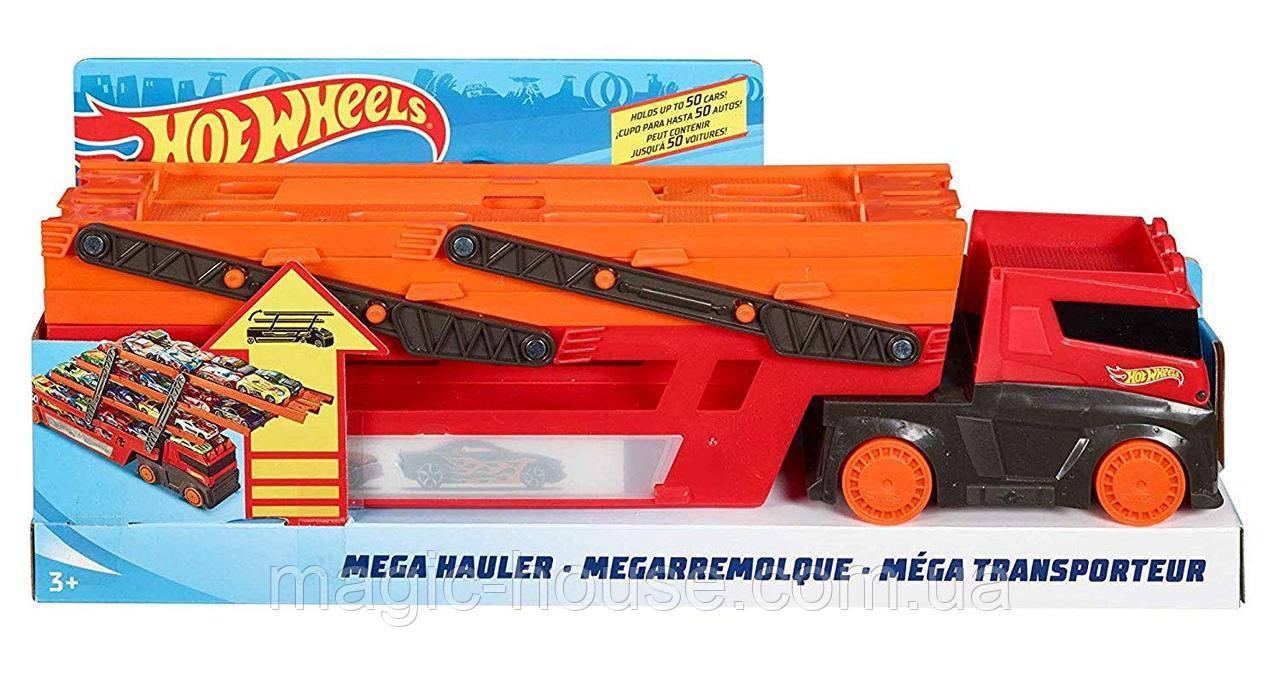 Хот Вилс автовоз для 50 машинок Hot Wheels Mega Hauler