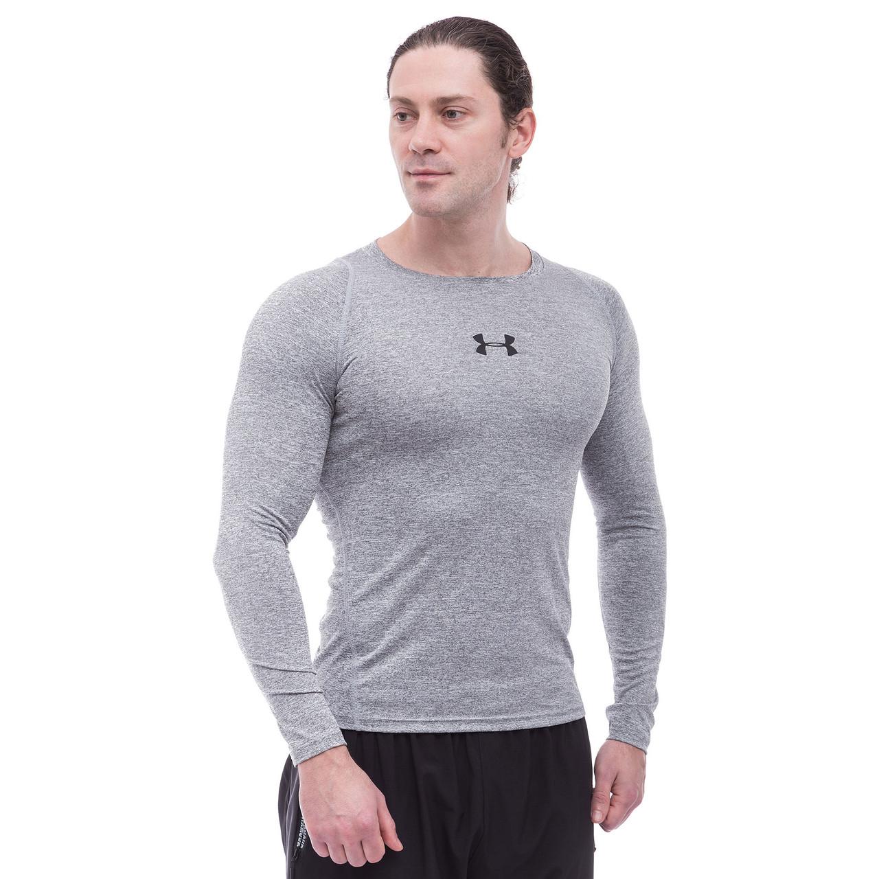 Лонгслив спортивный мужской UAR (PL, M-2XL-165-185cм,серый) M 165-170 PZ-CO-809-1_1