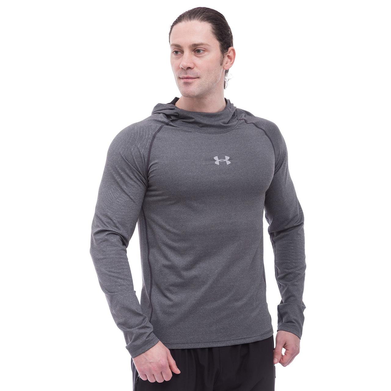 Толстовка спортивная с капюшоном UAR (PL, эластан, M-3XL) Светло-серый M (44-46) PZ-9304_1