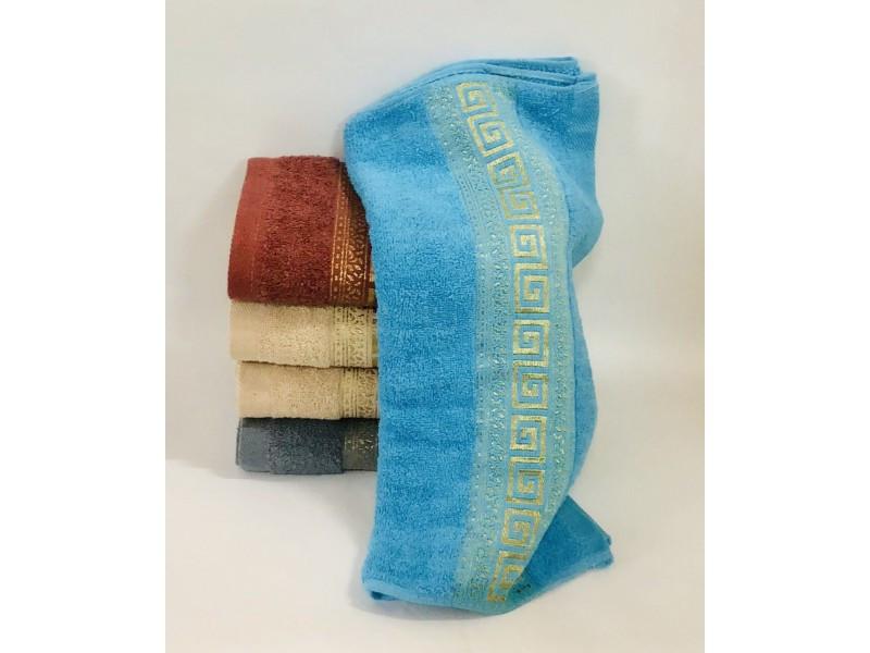 Банное полотенце золотое версачи