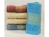 Банное полотенце золотое версачи, фото 3