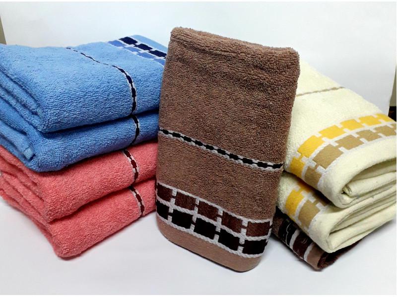 Венгерские банные полотенца Квадраты-Кант