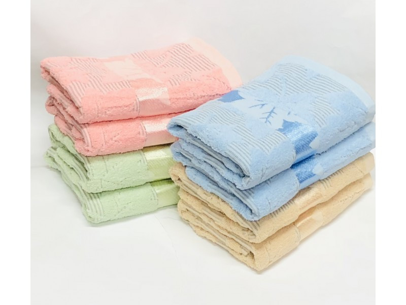 Банные полотенца Листик Лён